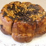 sticky bun with walnuts