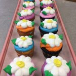 Flower Cupcakes at Vallos Bakery
