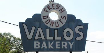 vallos bakery sign